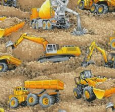 Nutex Trucks and Diggers Fabric